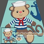 Sailor Monkey SC (Single Crochet) Throw Blanket Graphghan Crochet Pattern - PDF Download