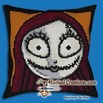 SALLY SC (Single Crochet) Throw Pillow Graphghan Crochet Pattern - PDF Download
