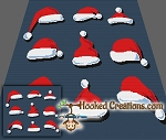 Santa Hats SC (Single Crochet) Throw Blanket Graphghan Crochet Pattern - PDF Download
