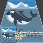 Sea Panda SC (Single Crochet) Throw Blanket Graphghan Crochet Pattern - PDF Download