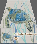 Sea Turtle SC (Single Crochet) Full Size Blanket Graphghan Crochet Pattern