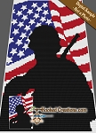 Single Soldier C2C (Corner to Corner) Twin Blanket Graphghan Crochet Pattern