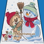 Snow Day Teddy SC (Single Crochet) Throw Blanket Graphghan Crochet Pattern - PDF Download