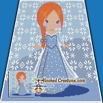 Snow Princess SC (Single Crochet) Throw Blanket Graphghan Crochet Pattern - PDF Download