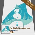 Snowman Hill SC (Single Crochet) Throw Blanket Graphghan Crochet Pattern - PDF Download