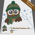 Snowy Days Owl SC (Single Crochet) Throw Blanket Graphghan Crochet Pattern - PDF Download