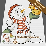 Snowy Ducking SC (Single Crochet) Throw Blanket Graphghan Crochet Pattern - PDF Download