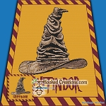 Sorting Hat - Gryffindor SC (Single Crochet) Throw Blanket Graphghan Crochet Pattern - PDF Download