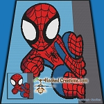 Spidey SC (Single Crochet) Throw Blanket Graphghan Crochet Pattern - PDF Download