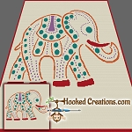 Spotted Elephant SC (Single Crochet) Throw Blanket Graphghan Crochet Pattern - PDF Download