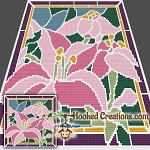 Stained Glass Lilies SC (Single Crochet) Throw Blanket Graphghan Crochet Pattern