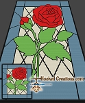 Stained Glass Rose SC (Single Crochet) Throw Blanket Graphghan Crochet Pattern - PDF Download