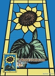 Stained Glass Sunflower SC (Single Crochet) Twin Sized Blanket Graphghan Crochet Pattern - PDF Download