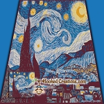 Starry Night SC (Single Crochet) Throw Blanket Graphghan Crochet Pattern - PDF Download