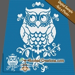 Stencil Owl SC (Single Crochet) Throw Blanket Graphghan Crochet Pattern - PDF Download