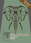 Stenciled Elephant C2C (Corner to Corner) Twin Blanket Graphghan Crochet Pattern