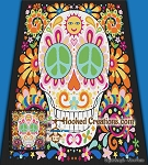 Sugar Skull Peace SC (Single Crochet) Queen Sized Blanket Graphghan Crochet Pattern - PDF Download