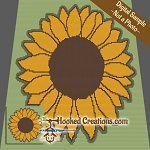 Sunflower SC (Single Crochet) Baby Blanket Graphghan Crochet Pattern - PDF Download