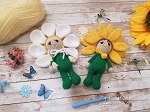 Sunflower Girl & Daisy Girl Crochet Pattern Bundle - Amigurumi - PDF Download