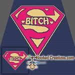 Super Bitch SC (Single Crochet) Throw Blanket Graphghan Crochet Pattern