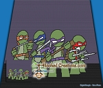 TMNT - Mini Turtles SC (Single Crochet) Throw Blanket Graphghan Crochet Pattern - PDF Download