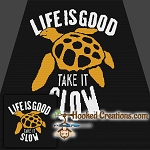 Take Life Slow SC (Single Crochet) Throw Blanket Graphghan Crochet Pattern