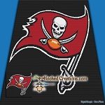 Tampa Bay Buccaneers SC (Single Crochet) Throw Blanket Graphghan Crochet Pattern - PDF Download