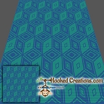 Tempted TSS (Tunisian Simple Stitch) -Right Handed Throw Blanket Graphghan Crochet Pattern - PDF Download
