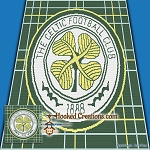 The Celtic Football Club SC (Single Crochet) Throw Blanket Graphghan Crochet Pattern - PDF Download
