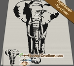 The Elephants Shadow SC (Single Crochet) Throw Blanket Graphghan Crochet Pattern - PDF Download