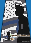 Thin Blue Line SC (Single Crochet) Twin Sized Blanket Graphghan Crochet Pattern - PDF Download