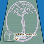Tree of Life SC (Single Crochet) Throw Blanket Graphghan Crochet Pattern - PDF Download