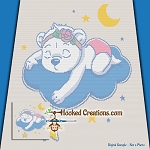 Twinkle Little Teddy SC (Single Crochet) Throw Blanket Graphghan Crochet Pattern - PDF Download