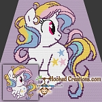 Twinkle Twinkle Little Unicorn Mini C2C (Modified Corner to Corner) Throw Blanket Graphghan Crochet Pattern