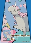 Unicorn in the Clouds SC (Single Crochet) Twin Size Blanket Graphghan Crochet Pattern - PDF Download