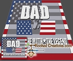 Veteran Dad SC (Single Crochet) Throw Blanket Graphghan Crochet Pattern - PDF Download