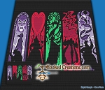 Villains SC (Single Crochet) Throw Blanket Graphghan Crochet Pattern - PDF Download