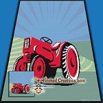Vintage Tractor SC (Single Crochet) Throw Blanket Graphghan Crochet Pattern - PDF Download