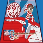 Waldo SC (Single Crochet) Throw Blanket Graphghan Crochet Pattern - PDF Download