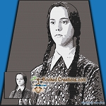 Wednesday Addams SC (Single Crochet) Throw Blanket Graphghan Crochet Pattern - PDF Download