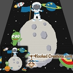 Welcome to Space SC (Single Crochet) Throw Blanket Graphghan Crochet Pattern - PDF Download