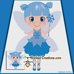 Winter Fairy SC (Single Crochet) Throw Blanket Graphghan Crochet Pattern - PDF Download