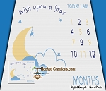 Wish Upon a Star Milestone SC (Single Crochet) Throw Blanket Graphghan Crochet Pattern - PDF Download