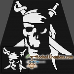 Yo Ho SC (Single Crochet) Throw Blanket Graphghan Crochet Pattern - PDF Download