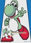 Yoshi C2C (Corner to Corner) Twin Size Blanket Graphghan Crochet Pattern - PDF Download