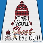 You'll Shoot Your Eye Out SC (Single Crochet) Throw Blanket Graphghan Crochet Pattern - PDF Download