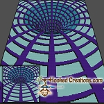 A Hole in my Blanket SC (Single Crochet) Throw Blanket Graphghan Crochet Pattern