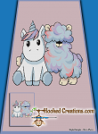 A Llama and a Unicorn SC (Single Crochet) Twin Blanket Graphghan Crochet Pattern - PDF Download