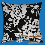 A Pansy of Sorts SC (Single Crochet) Throw Pillow Graphghan Crochet Pattern - PDF Download