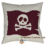 A Pirates Life SC (Single Crochet) Throw Pillow Graphghan Crochet Pattern - PDF Download